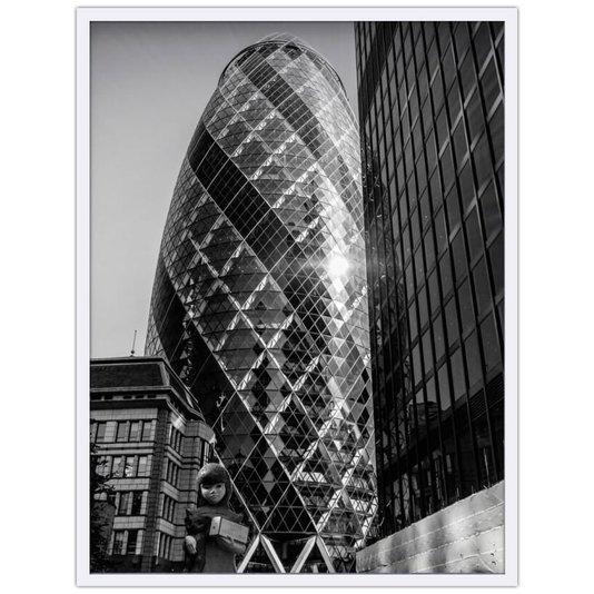 Quadro Decorativo em Preto e Branco Torre Maxixe em Londres 70x100cm