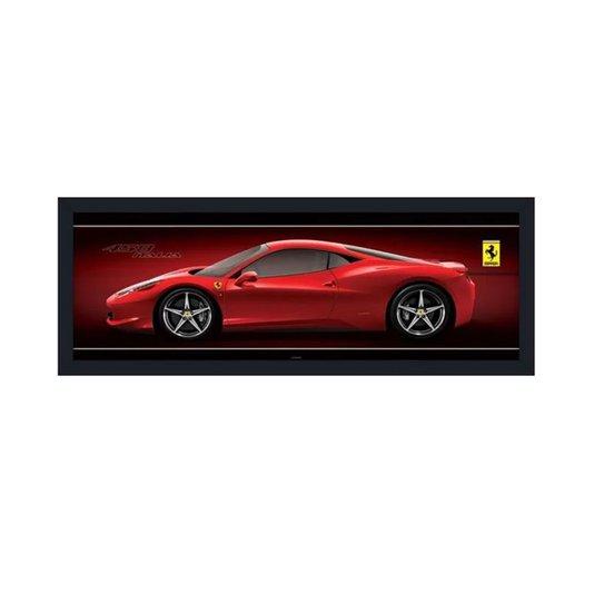 Quadro Decorativo Ferrari 458 Itália s/ Vidro 160x60cm