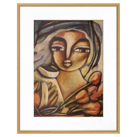 Quadro Decorativo Figurativo Mulher 70x90cm