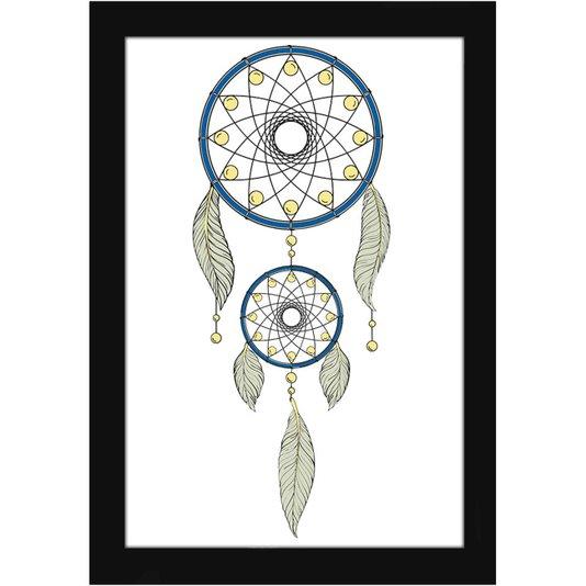 Quadro Decorativo Filtro dos Sonhos Pena Indiana 20x30cm