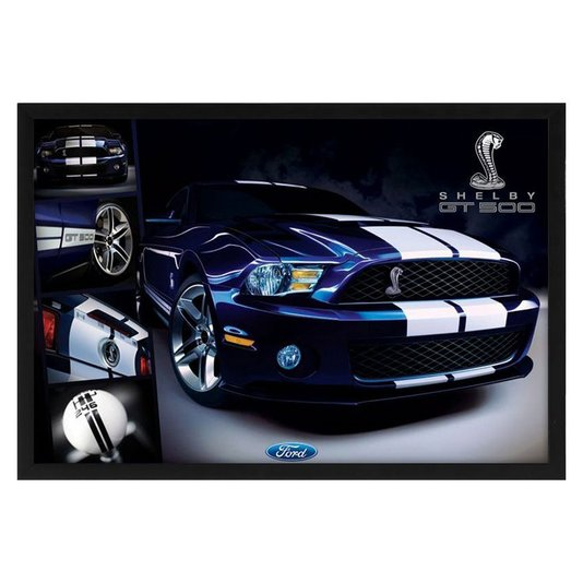 Quadro Decorativo Ford Mustang Shelby GT500 s/ Vidro 90x60cm