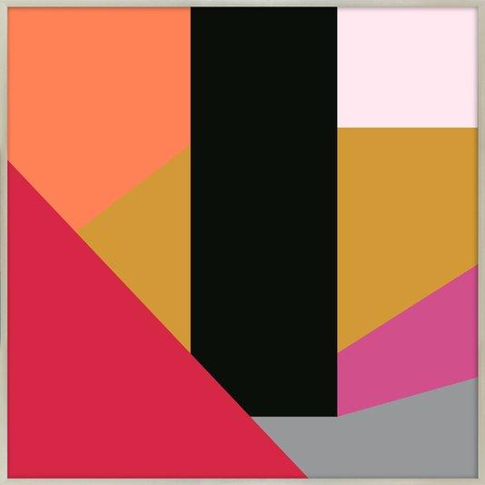 Quadro Decorativo Formas Geométricas Coloridas 70x70 cm