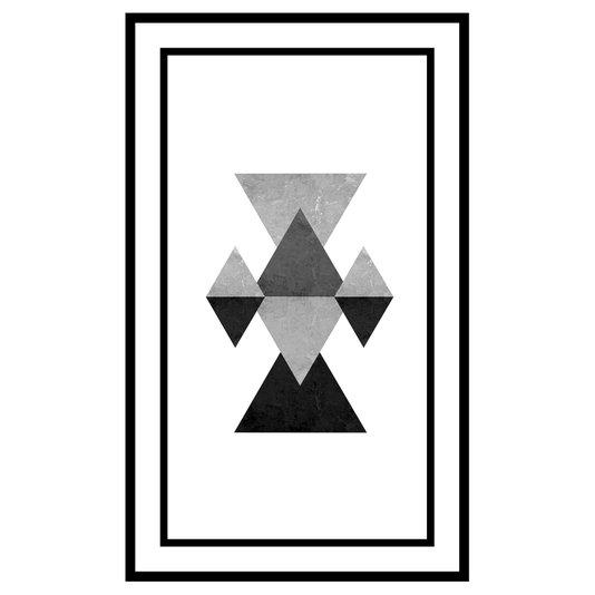 Quadro Decorativo Geométrico em Preto e Branco Arte Moderna II 70x110cm