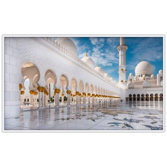 Quadro Decorativo Grande Mesquita Sheikh Zayed em Abu Dhabi 190x110cm