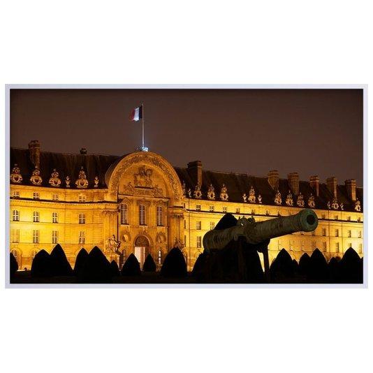 Quadro Decorativo Histórico Palácio dos Inválidos à Noite na França 150x80cm