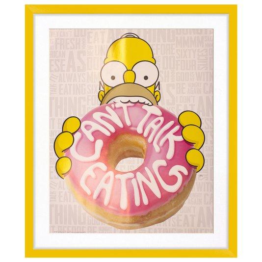 Quadro Decorativo Homer Simpson Can't Talk Eating The Simpsons 50x60cm