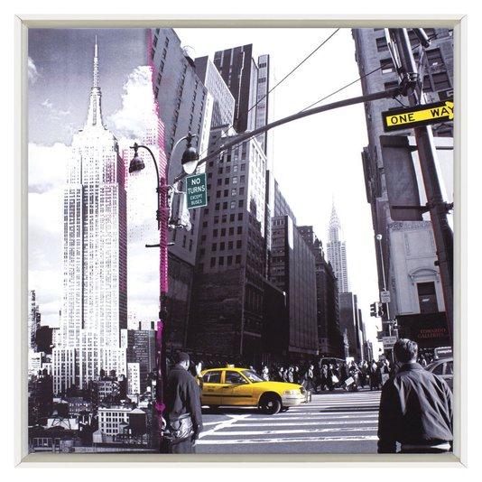 Quadro Decorativo Impressão Digital em Tela Centro de New York 60x60cm