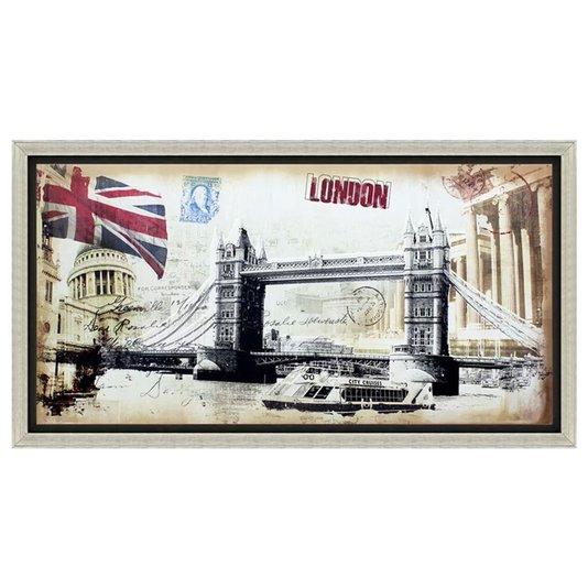 Quadro Decorativo Impressão Digital em Tela London 130x70cm