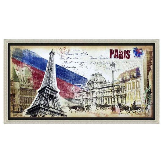 Quadro Decorativo Impressão Digital em Tela Paris 130x70cm
