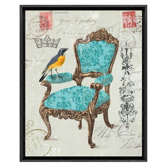 Quadro Decorativo Impressão Digital em Tela Pássaro Bem-te-vi  40x50cm
