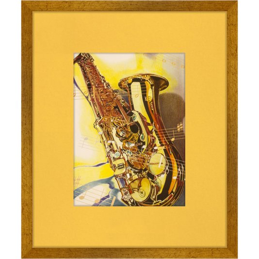 Quadro Decorativo Instrumento Musical Saxofone 50x60cm