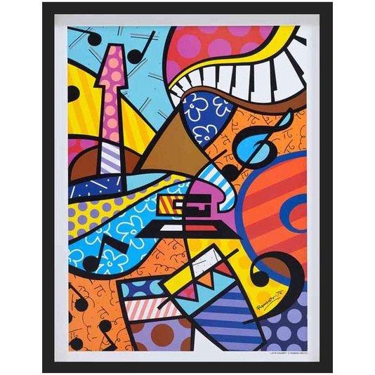 Quadro Decorativo Latin Grammy Romero Britto 50x65cm