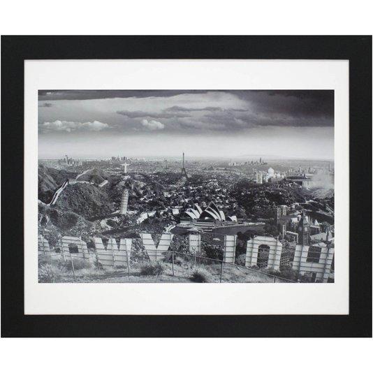 Quadro Decorativo Mistura de Cidades 110x90cm