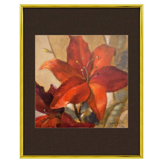 Quadro Decorativo Moldura em Alumínio Floral 40x50cm - DP1178