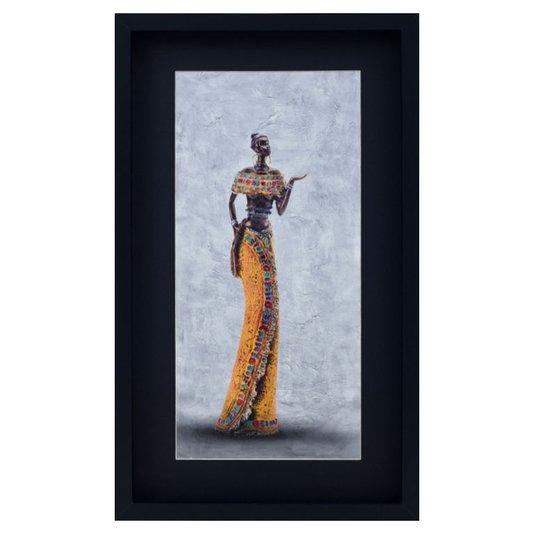 Quadro Decorativo Mulher Africana 35x60cm