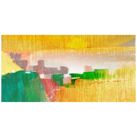 Quadro Decorativo Multicolorido Tela Abstrata V - 120x60cm