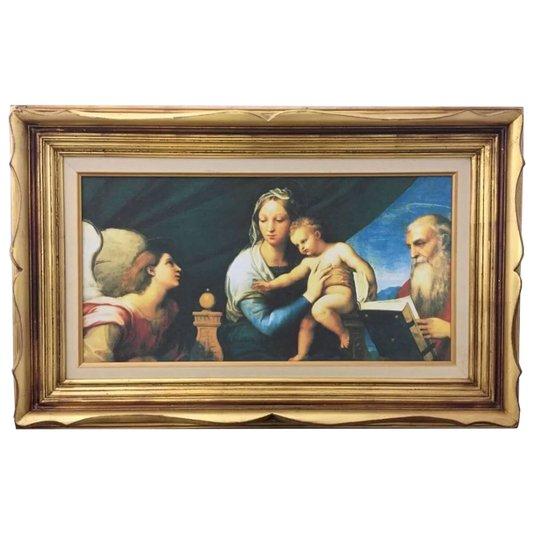 Quadro Decorativo Obra de Arte Madonna Del Pesce 100x60cm