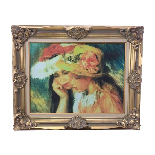 Quadro Decorativo Obra de Arte Pierre A. Renoir Duas Meninas 95x80cm