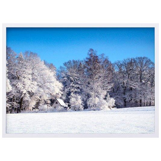 Quadro Decorativo Paisagem Floresta de Inverno 70x50cm