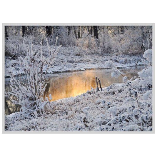 Quadro Decorativo Paisagem Inverno Floresta Branca 140x100cm