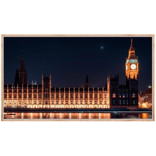 Quadro Decorativo Paisagem Londres Parlamento e Big Ben Iluminados 160x90cm
