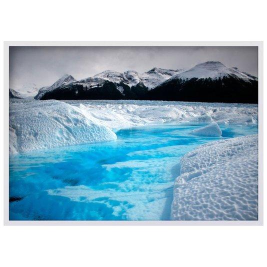 Quadro Decorativo Paisagem Mar Congelado Geleira 100x70cm