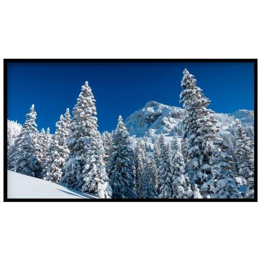 Quadro Decorativo Paisagem Montanha com Neve e Árvores 150x80cm