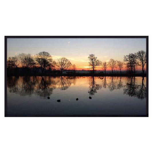 Quadro de Paisagem Nascer do Sol em Amsterdam 150x80cm