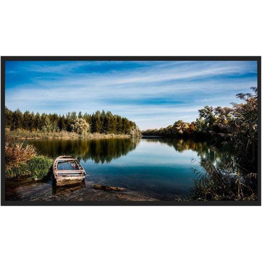 Quadro Decorativo Paisagem Natureza com Barco Abandonado 150x80cm