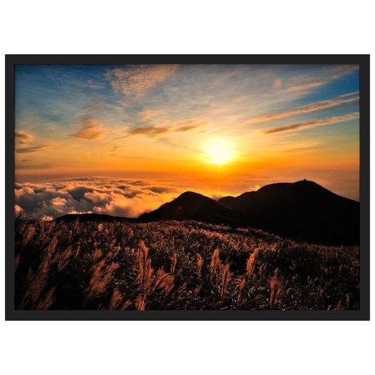 Quadro Decorativo Paisagem Pôr do Sol Nuvens 70x50cm