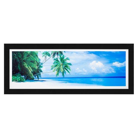 Quadro Decorativo Paisagem Praia Mar Azul 170x70cm