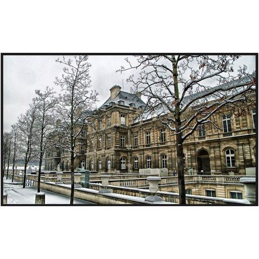 Quadro Decorativo Palácio do Luxemburgo em Paris Durante o Inverno 170x100cm