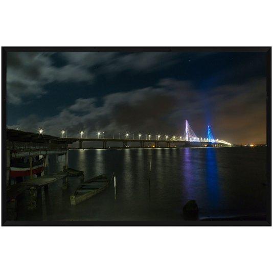 Quadro Decorativo Ponte Anita Garibaldi Laguna Santa Catarina 200x130cm