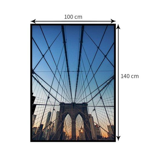 Quadro Decorativo Ponte do Brooklyn em Nova Iorque 100x140cm