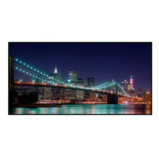 Quadro Decorativo Ponte do Brooklyn Noite em Nova York 200x100cm