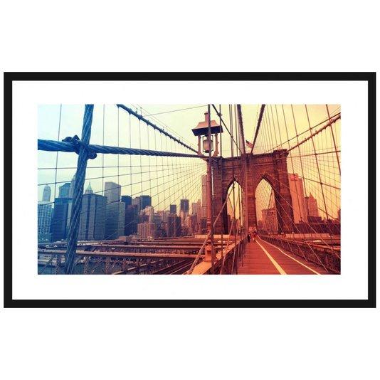 Quadro Decorativo Ponte do Brooklyn Nova York 80x50cm