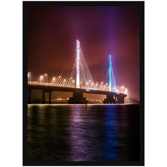 Quadro Decorativo Ponte Estaiada Anita Garibaldi Laguna 50x70cm