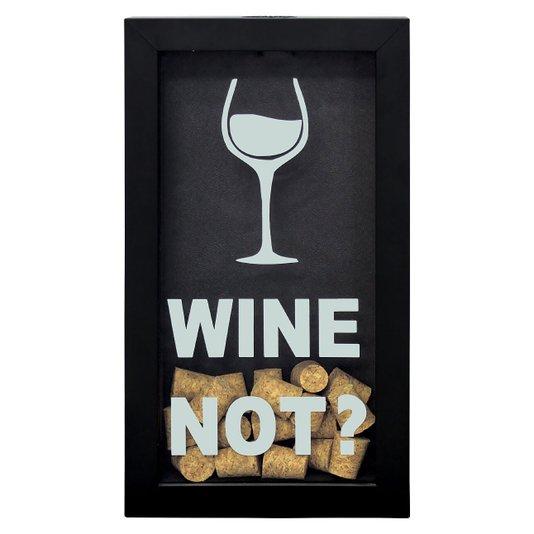 Quadro Decorativo Porta Rolhas Vinho Wine Not
