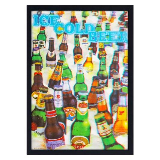 Quadro Decorativo Poster 3D Cerveja Gelada 50x70cm