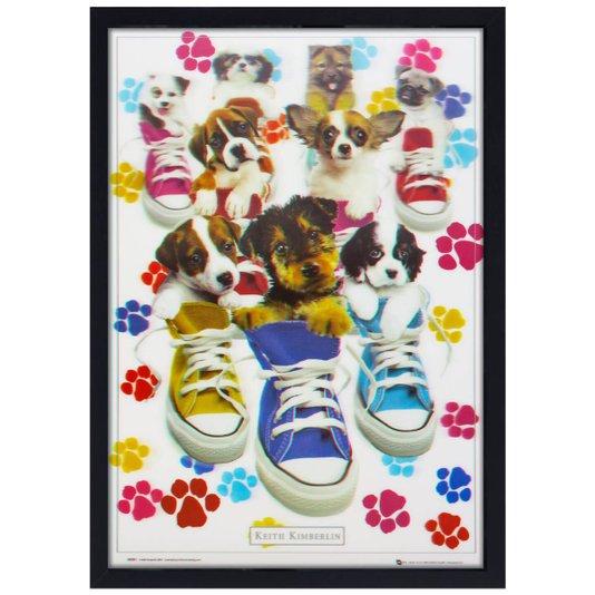 Quadro Decorativo Poster 3D Dogs Filhotes 50x70cm