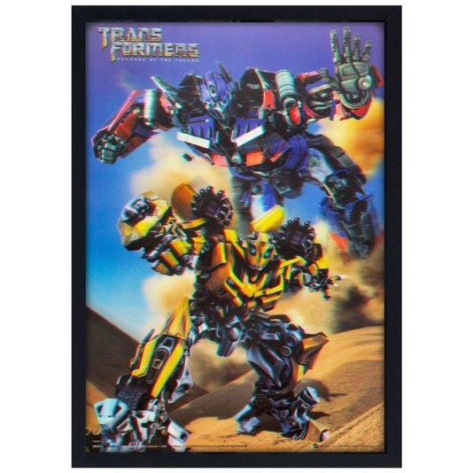Quadro Poster 3D Filme Transformers Vingança dos Derrotados 50x70cm