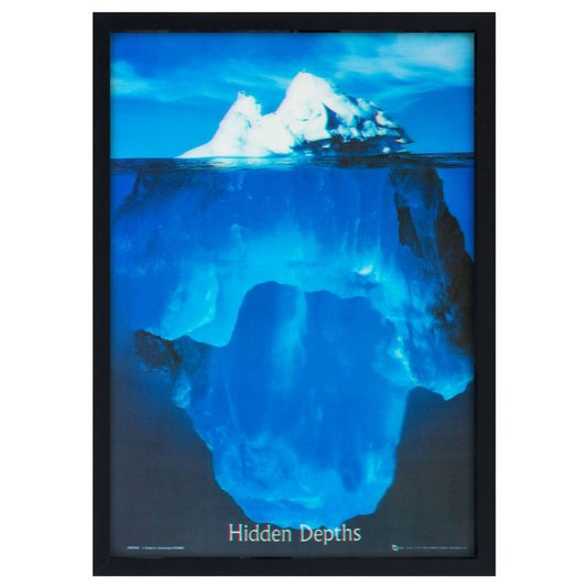 Quadro Decorativo Poster 3D Iceberg Profundezas Ocultas 50x70cm