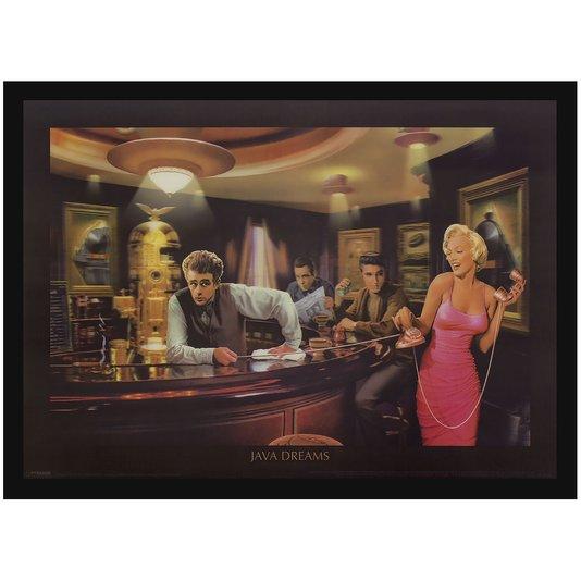 Quadro Decorativo Poster 3D Marilyn Monroe Java Dreams 70x50cm