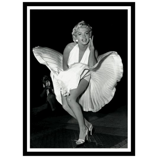 Quadro Decorativo Poster 3D Marilyn Monroe Vestido Esvoaçante 50x70cm