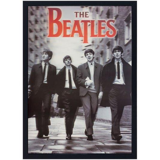 Quadro Decorativo Poster 3D The Beatles 50x70cm