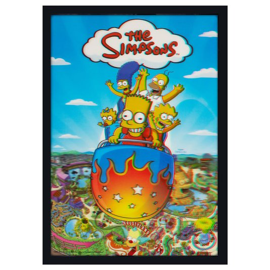 Quadro Decorativo Poster 3D The Simpsons 50x70cm