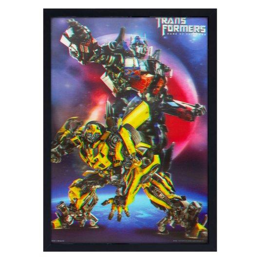 Quadro Decorativo Poster 3D Transformers O Lado Oculto da Lua 50x70cm