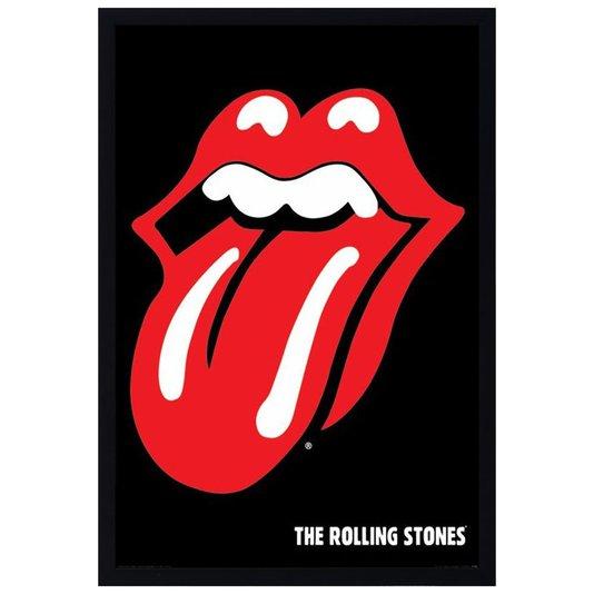 Quadro Decorativo Poster Banda The Rolling Stones s/ Vidro 60x90cm