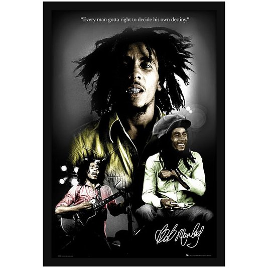 Quadro Decorativo Poster Bob Marley sem Vidro 60x90cm