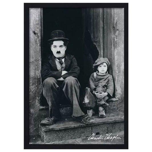 Quadro Decorativo Poster Charlie Chaplin s/ Vidro 60x90cm